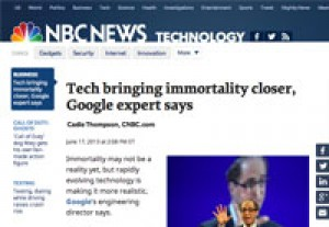 Tech bringing immortality closer, Google expert says  – NBC News.com